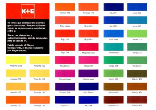 Tintas proceso de impresi n y medio ambiente www - Catalogos de colores de pinturas para interiores ...